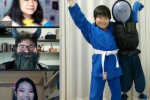 montagem Cursos Extras judo e teatro musical