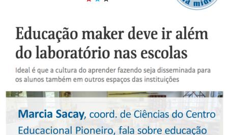 Educação maker deve ir além do laboratório nas escolas